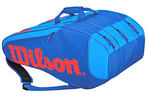 Wilson Schlägertasche Burn Team Rush 12er, Blau, 76 x 30.5 x 34.3 cm, 80 Liter, WRZ845612