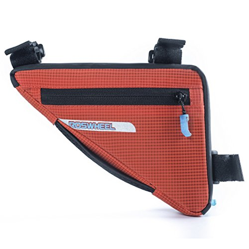 ROSWHEEL Triangle Rahmen Fahrrad Tasche Nylon Front Top Rohrrahmen Tasche Sattel Pack Orange