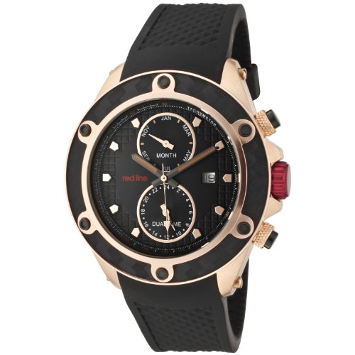 Red Line rl-10114 – Watch Men – Quartz – Analogue Black Rubber Strap