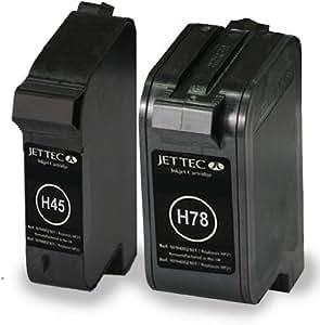 2 cartouches d'encre réusinées pour Imprimante HP Deskjet 970cxi - Noir / Colour- Avec Puce