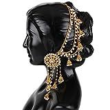 Shining Diva Fashion 18k Gold Plated Original Bahubali Stylish Fancy Party Wear Pearl Chain Jhumka Jhumki Traditional Earrings For Women & Girls