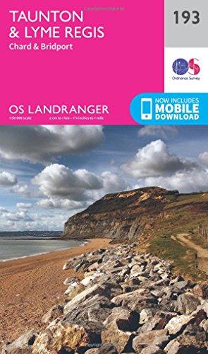 Landranger (193) Taunton & Lyme Regis, Chard & Bridport (OS Landranger Map)