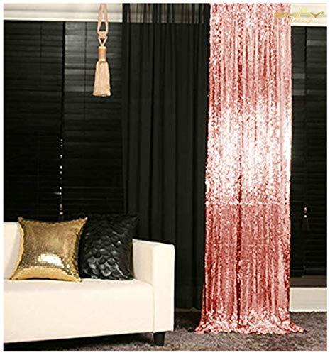 ShinyBeauty ShinyBeauty-210x215cm-Pailletten-Pink-Pailletten-Panels Pailletten Vorhänge,Pailletten Kulissen, Zeremonie Kulisse,7ft*7ft Pailletten Stoff(7x7ft, Pink) -