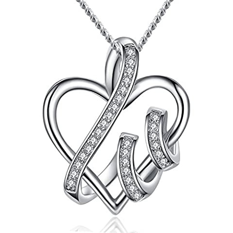 FLORAY, Collar con Colgante de Corazón para mujer