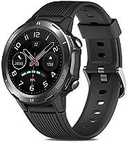 Smartwatch Uomo Donna Orologio Sportivo Fitness Tracker Impermeabile 5ATM con Touchscreen Completo Cardiofrequ