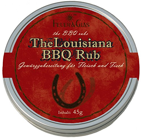 Louisianische Gewürzmischung zum marinieren für Fleisch und Fisch -Gourmetgewürzmischung für den perfekten Grillabend -Louisiana BBQ Rub - von Feuer und Glas ( 45g )