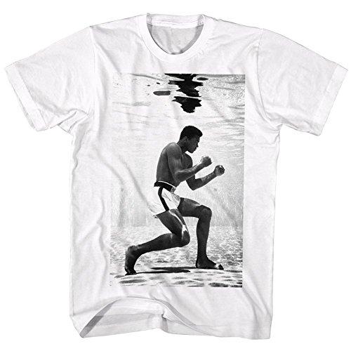 Muhammad Ali-Underwater Hitter'-Maglietta da uomo bianco Large