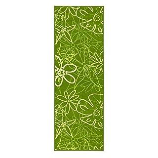 andiamo Küchenläufer in Grün, pflegeleicht & robust, Blumenmuster, schadstoffgeprüft, Größe:67x200cm, Farbe:Grün