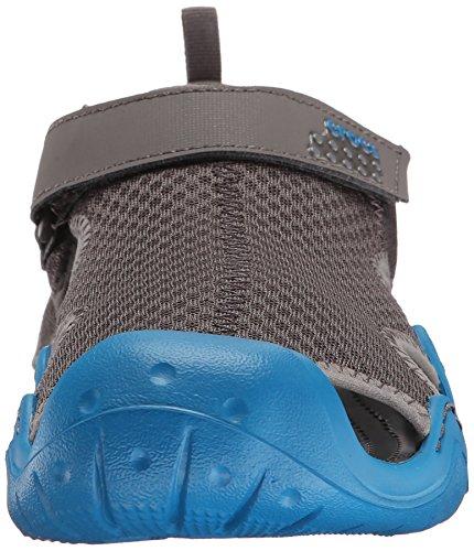 Crocs Swiftwater Sandal, Sandales Bout ouvert - Homme Gris (Graphite/Ultramarine)