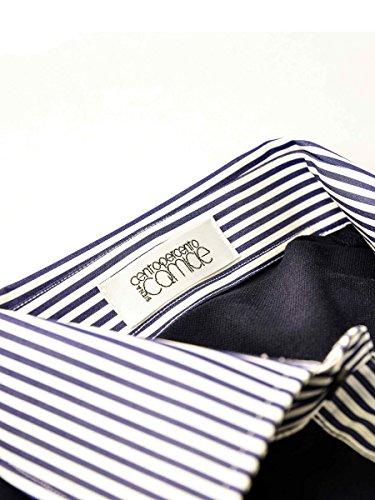 Centopercento Camicie Herren Poloshirt Einheitsgröße Blu_C/Righe