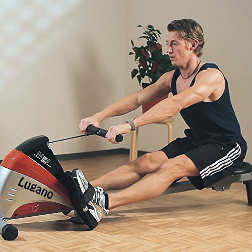 51OepGIcz4L. SS500  - Christopeit Sport Unisex's Lugano Rower, Silver/red/Black, Medium