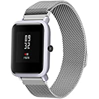 Kingulee for Xiaomi Huami Amazfit Bip Band,Milanese Magnetic Stainless Steel Bracelet Watch Band Strap For Xiaomi Amazfit Bip Youth Watch