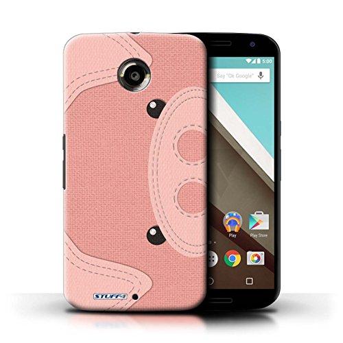 Kobalt® Imprimé Etui / Coque pour Motorola Nexus 6 / Manchot conception / Série Cousu des Animaux Effet Cochon