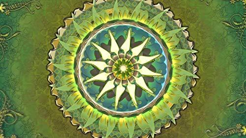 Rompecabezas 1500 Piezas Adultos De Madera Niño Puzzle-Mandala Verde-Juego Casual De Arte Diy Juguetes Regalo Interesantes Amigo Familiar Adecuado