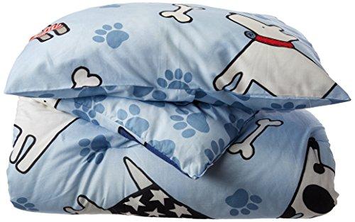 Hund Dreams Baumwolle Tröster Bettwäsche-Set, Blau, baumwolle, blau, Twin (Blau Twin Set Boys Tröster)