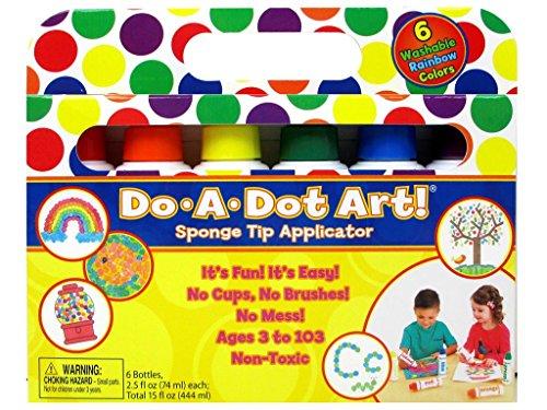 Do - a - Dot Art - Evidenziatori, colori: arcobaleno, confezione da 6 pezzi