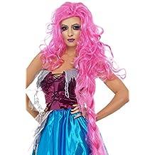 Smiffy's Repulsive Rapunzel Wig, Pink (peluca)