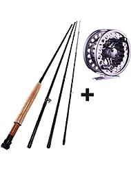 sougayilang mouches Canne à pêche avec moulinet de pêche de Combos