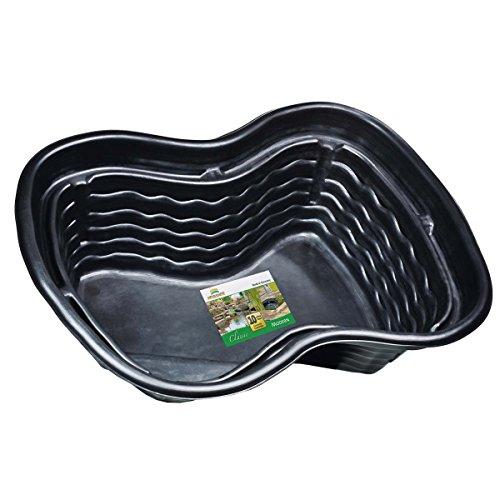 Heissner B1001-00 PE-Fertigbecken 1000 Liter 224 x 150 x 70 cm nierenförmiges Teichbecken für Ihren Gartenteich