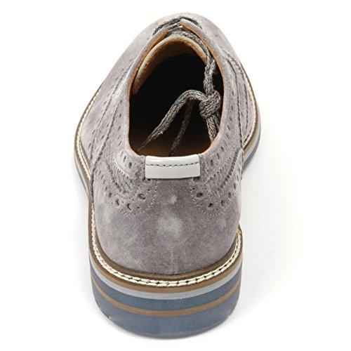 C2290 scarpa inglese uomo BRIMARTS scarpe grigio fondo gomma shoe man Grigio