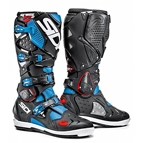 Sidi Motorcycle Boots Sidi Crossfire 2 SRS Light Blue/Black EC 44 Not Applicable