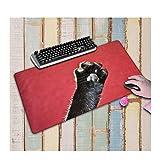 JUNHONZGHANG Modello Di Artiglio Di Carne Gatto Carino Pad Di Gomma Antiscivolo Per Mouse Pad Di Grandi Dimensioni Adatto Per Internet Cafè Per L'Home Office,40X70Cm