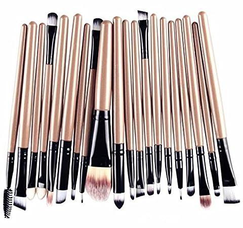 Hosaire 20PCS/Lot Pinceaux Maquillage Trousse Brush Cosmétique pour Eyeliner Lip