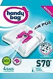 Handy Bag - S70 - 4 Sacs Aspirateurs, pour Aspirateurs Bosch et Siemens, Fermeture Hermétique, Filtre Anti-Allergène, Filtre Moteur