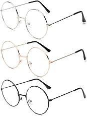 Unisex Metal Retro Round Frame Eyeglasses