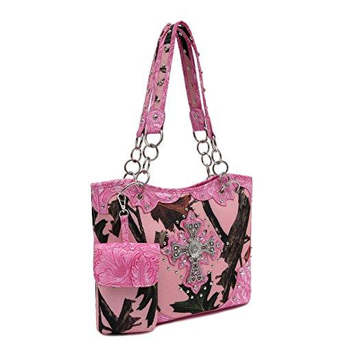 Blancho Biancheria da letto delle donne [Foglie Elfi CB-S # 1] PU Leather Bag Set Elegante Portafoglio Hanbag Combo Fashion Bag borsa Lime Handbag 1 - Fuchsia Grandes Ofertas De Liquidación 04ayFZwI