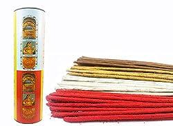 Seychelles Hand-Rolled Incense Sticks Pure Rose, Loban, Nag Champa, Sandalwood Agarbatti Multi Flavours Pack of 4 (80 Sticks)