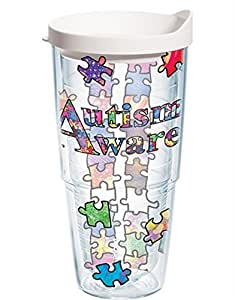 Tervis Tumbler Autism Awareness Puzzle Design Wrap 24oz with White Travel Lid by Tervis