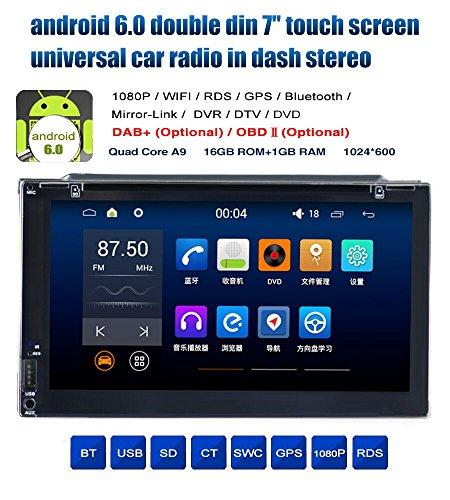 freeauto Android 6.0 Universal Auto Stereo 17,8 cm Doppel 2 DIN In Dash Head Unit GPS Nav am FM Radio Player Bluetooth Empfänger USB SD 3 G WiFi DVR cam-in