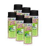 6X DUPLI-Color Color-Spray SCHWARZ SEIDENMATT Metall Holz ALU Glas Stein 400 ML