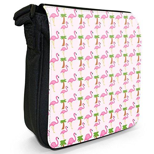 Fancy A Snuggle, Borsa a tracolla donna Pinke Flamingos & Palmen