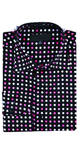 Herren Party Dot Shirt Fuchsia