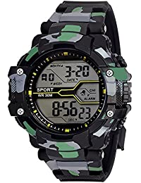 Grandson Digital Black Dial Men's & Boy's Watch -Gw030