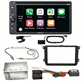 Sony XAV-AX205DB CarPlay Android Auto Digitalradio Bluetooth USB CD DVD Autoradio Touchscreen Moniceiver Einbauset für Golf 5 6 Passat 3C CC B7 Touran