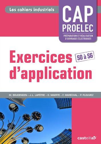 Exercices d'application CAP Proelec