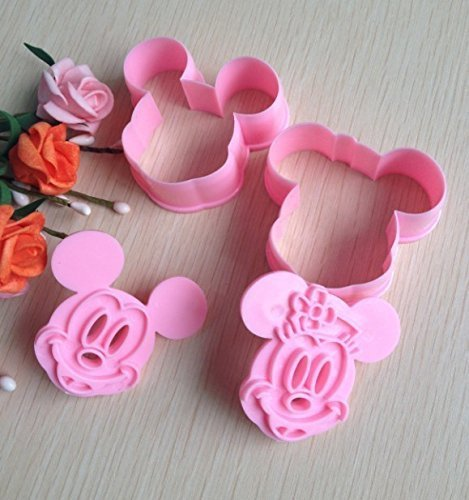 Mouse Mickey Mold (2pcs Mickey Mouse Shape Mold Sugar Arts Set Fondant Cake Tools/cookie Cutters Good by XCL)