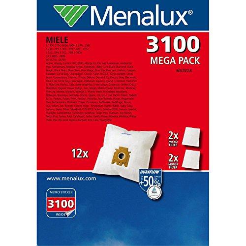 Electrolux 900166356 Staubbeutel, X-Range, X3100, Duraflow Synthetik, Beutel 4 Stück, für Miele