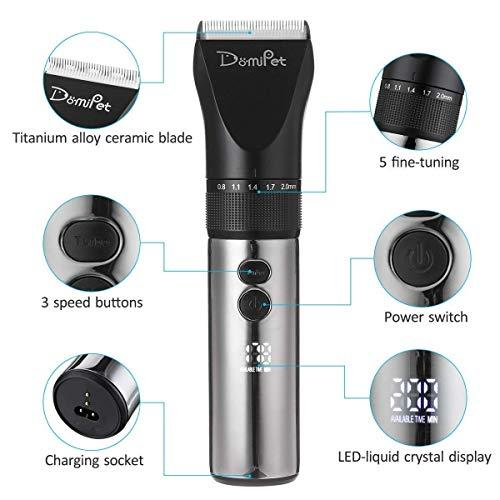 Domipet Tondeuse Chien Chat Animaux Professionnelle Electrique Toilettage Charge Rapide silencieuse 360º Rechargeable sans Fil Rasoir Poil L... 3