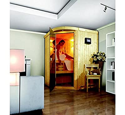 Asmada - Karibu Sauna ohne Ofen - mit Rundbogen - von Woodfeeling GmbH auf Du und dein Garten
