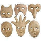 Medium Masken H: 12-21 cm 6asstd