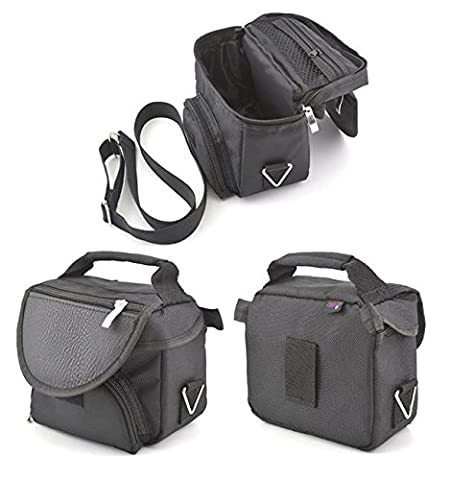 Black Carry Case Travel Bag For Nintendo DS Original NDS and Game Boy Advance GBA With Carry Strap and Accessory Storage From Digicharge® by Digital Accessories