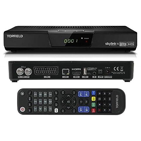 Topfield TFS 3000 Digital HD Satelliten Receiver schwarz (HDTV, DVB-S2, SCART, Upscaler) inkl. HDMI