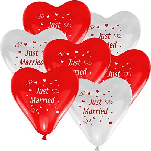 "Herzluftballons ""Just Married"""