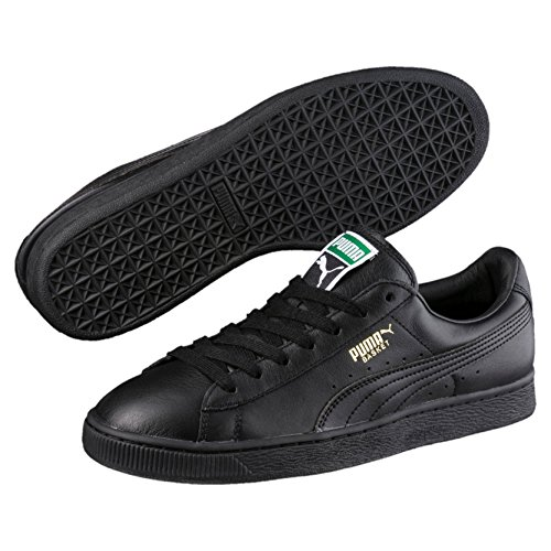 Puma basket classic lfs scarpe basket uomo, negro - noir (black/team gold), 42 eu (8 uk)