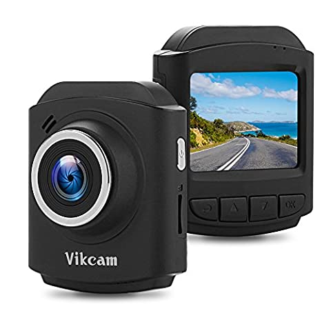 Vikcam DR60 Dash Cam for Cars, In Car Camera 1080P @30fps Full HD Dashboard Camera with Sony Sensor Video Recorder DVR 177°Wide Angle Lens G-Sensor Parking Monitor Loop Recording WDR Night