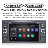 In Dash Navigation Android 9.0 Quad Core Car Double Din Stereo Headunit for Ford Focus Mondeo S-max C-max Galaxy Support WiFi 4G Bluetooth DAB DVR SWC